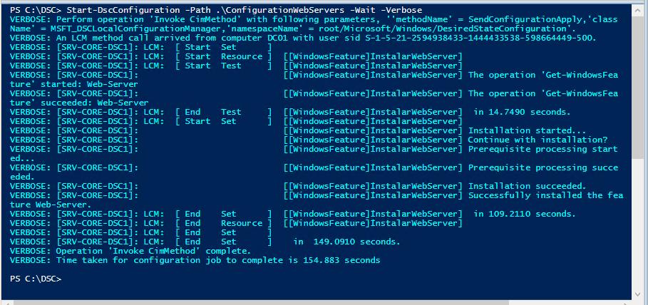 Labs Parte 1 DSC Para cuando se nos pide que instalemos 20 Servidores WEB