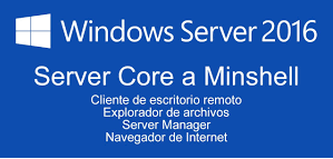 Gestionar las instalaciones de Windows Server Core 2016 Enable Firewall